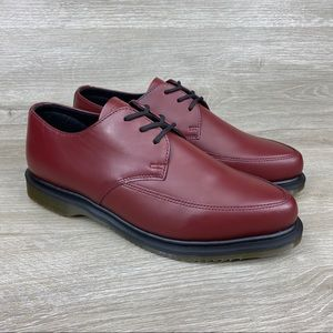 Dr Martens Willis SM Cherry Red Leather Shoes 9